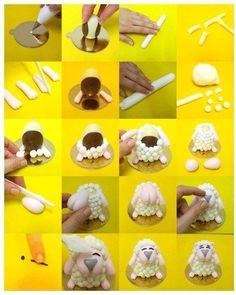DIY Cute Sheep Cake Topper DIY Projects / UsefulDIY.com