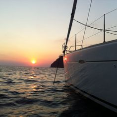 Sunset in Levanto Grand Haven, Sailing, Coast, Sunsets, Beach, Places, Water, Outdoor, Candle