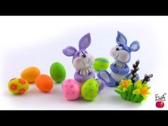LET'S CLAY! Easter Bunny - tutorial polymer clay - YouTube