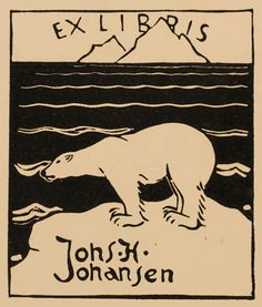 ≡ Bookplate Estate ≡ vintage ex libris labels︱artful book plates - Denmark, 1959.  Artist: Jørgen Jensen