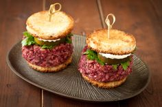 Beet & Brown Rice Sliders, a Cooking Light recipe renovation, vegan and gluten-free from Recipe Renovator