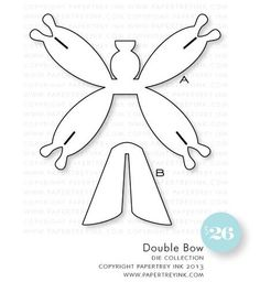 Papertrey Ink - Double Bow Die Collection (set of Handmade Hair Bows, Diy Hair Bows, Diy Bow, Cardboard Crafts, Paper Crafts, Bow Template, Hair Bow Tutorial, Bow Pattern, Projects To Try