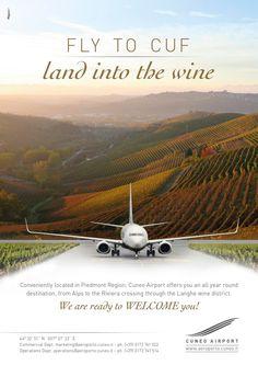 AEROPORTO di CUNEO advertising #adv #brandidentity #marketing #creative #playadv #airport #travel #cuneo #wine #land #design