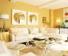 Image result for soft yellow living room ideas