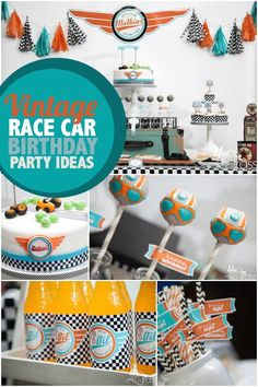 Looking for a high-octane boy birthday party idea? You'll find super suggestions in this Race Car Round-Up! #birthday #car #racecar
