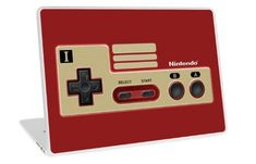 Retro Classic vintage Red Gold game controller Laptop Skins #laptop #skin #case #Photography #videogames #Digitalmanipulation #Macro #Vintage #Nintendo #Sega #Dreamcast #Classic #Retro #8bit #mario #brothers #digital #cool