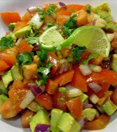 Simple Tomato and Avocado Salad