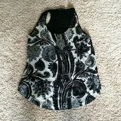 Tank top, racer back Soft silky front, fabric back, barely worn Mercer & Madison Tops Tank Tops