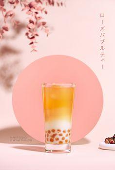 Stock photo of Milk bubble tea. Food Poster Design, Menu Design, Food Design, Bubble Tea, Advertising Photography, Commercial Photography, Rose Milk Tea, Foto Still, Bb Beauty