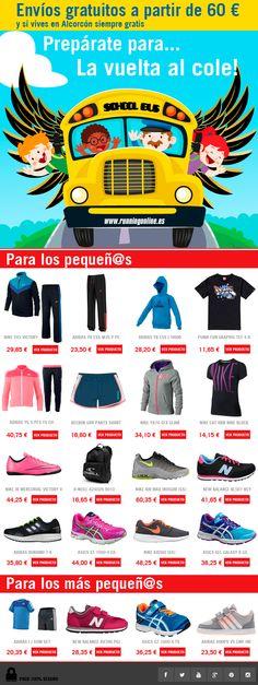Prepárate para la vuelta la Cole!! Suscríbete a nuestra newsletter y descubre todas las ofertas y promociones mensuales! Este mes #chandal #pantalones #zapatillas #mochila #sudadera para niñ@s y mucho más Recuerda gastos de envío gratis a partir de 60€ y si eres de Alcorcón siempre gratis! http://runningonline.es/news/vuelta_al_cole/ #vueltaalcole #nike #asics #puma #reebok #adidas #saucony #alcorcon #running #runningonline #tiendaonline #tiendarunningonline #shopping