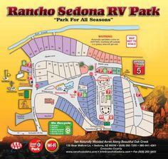 Park Map and Pricing - Rancho Sedona RV Park | Sedona AZ RV Parks - Beautiful spots!