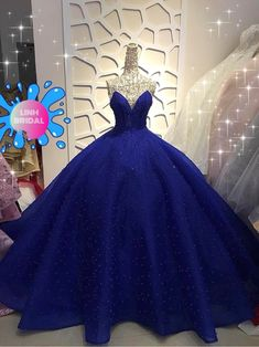 Midnight blue off the shoulder modified sweetheart sparkle beaded or long sleeves tiered skirt ball gown wedding/prom dress Pretty Quinceanera Dresses, Cute Prom Dresses, Bridal Dresses, Sparkly Dresses, Debut Gowns, Debut Dresses, 15 Dresses, Blue Ball Gowns, Ball Gown Dresses
