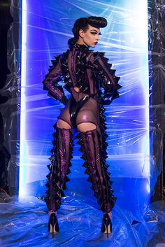 Violet Chachki for BCalla SS 2016 Photo: Michael Burk. Burlesque, Drag Queen Outfits, Drag Queen Costumes, Gloria Groove, Mode Latex, Rupaul Drag Queen, Violet Chachki, Queen Makeup, Club Kids