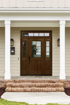 First Impressions are everything and Your Front Door is just that. Whether you prefer the Warm Inviting feel of Real Wood Doors, or Durable and Realistic Fiberglass, to Bold Wrought Iron Style Entries, Tri-Supply will help you put the exclamation point on your home with the perfect Front Door. Craftsman Door, Double Entry Doors, Palermo, Laminated Veneer Lumber, Construction Crafts, Door Sweep, Garage Doors, Beveled Glass, Outdoor Decor