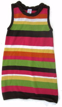 Gymboree Fall For Autumn Striped Sweater Dress Size 6 Girls #Gymboree