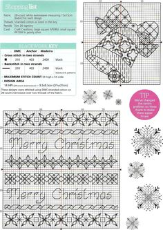 blackwork christmas