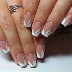 french nails nude-square-lace-white-triangular-long-elegant-bridal-nails-ri … – My Wonderland French Nails, French Manicure Nails, Manicure Colors, French Manicure Designs, Best Nail Art Designs, Simple Nail Designs, Nails Design, Manicure Ideas, French Pedicure