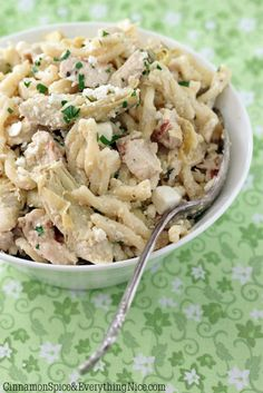 Lemon Chicken Artichoke Pasta