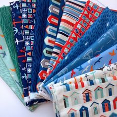 Lily's Quilts Awesome Nautical fabric @adria quiroz