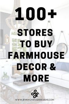 Looking for new stores to buy farmhouse furniture and decor? Check out my ever growing master list of farmhouse decor stores to redecorate your house in farmhouse style! Find stores that sell farmhouse furniture (sofas, accent chairs, coffee tables, etc.) and rustic farmhouse decor like candle sticks, farmhouse signs, farmhouse pillows, mirrors, rugs and more. Get inspired and shop antique farmhouse finds! #fixerupper #hgtv #onlineshopping #newstores