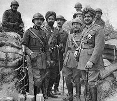 world war 2 british soldiers | ... of Patiala Lt. General Bhupinder with soldiers in Belgium in 1915