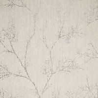 Graham & Brown White Icy trees Silver effect Textured Wallpaper - B&Q for all your home and garden supplies and advice on all the latest DIY trends