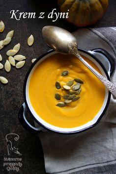 zupa-krem-z-dyni Best Soup Recipes, Fruit Recipes, Pumpkin Recipes, Vegan Recipes, Vegan Gains, Polish Recipes, Ketogenic Recipes, Healthy Baking, Eating Clean