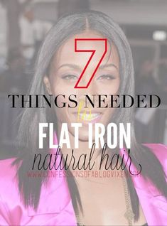 tools needed to flat iron - hardly straighten my hair but this might come handy.
