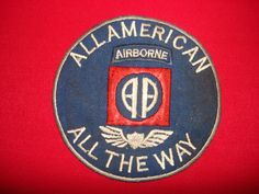Vietnam War Patch US 82nd AIRBORNE Division ALL AMERICAN ALL THE WAY