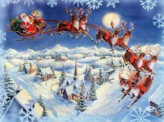On Dasher, on Dancer, on Comet, and Cupid. On Prancer, on Vixen, on Donder and Blitzen! Dash away, dash away, dash away all!