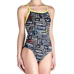 Arena womens #swimming swim swimsuit one piece #costume - #black - 18uk,  View more on the LINK: 	http://www.zeppy.io/product/gb/2/141825421065/