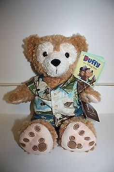 "NEW RARE Disney Aulani 12"" Duffy Bear w/ Aloha Shirt - HAWAII EXCLUSIVE"