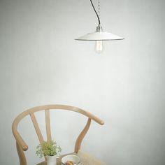 INSPIRATIONEN - lautentico  Emaille Lampe Enamel Lamp Fabriklampe Industrielampe lautentico