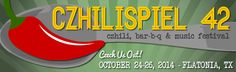 Czhilispiel in Flatonia, TX!  Always the 4th full weekend in October. 3 days of chili and barbecue cook-offs, live music, giant biergarten, carnival and more.  Midway between Houston and San Antonio.