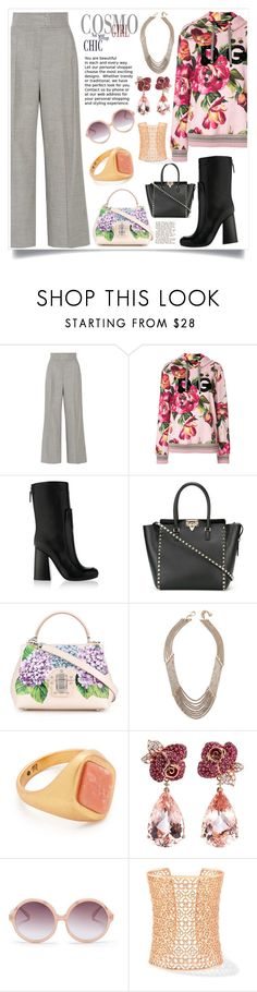 """""""Fabulous"""" by justinallison ❤ liked on Polyvore featuring Barbara Casasola, Dolce&Gabbana, Victoria Beckham, Valentino, Lulu Frost, Madewell, Anyallerie, N°21 and Kendra Scott"""