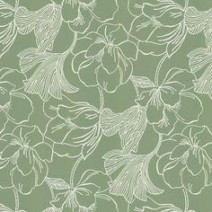 Helleborus by Farrow & Ball - Green - Wallpaper : Wallpaper Direct