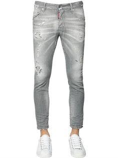DSQUARED2 distressed Skater jeans Skater Jeans, Jean Grey, Dsquared2, Denim Jeans, Man Shop, Mens Fashion, Cotton, Pants, Shopping