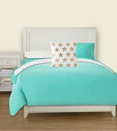 Superbe Bedding Design Created On PBTeen.com: Tiffany Blue And Gold Inspired By  Kate Spade