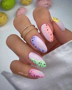 Stylish Nails, Trendy Nails, Cute Nails, Pink Nails, Gel Nails, Yellow Nails, Nail Nail, Nagellack Design, Almond Nails Designs