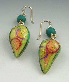 Green+and+Yellow+Pod+earrings,2006 by Judy Dunn