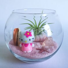 The Hello Kitty Series: Pink Beach Terrarium Kit by TerrariumKits