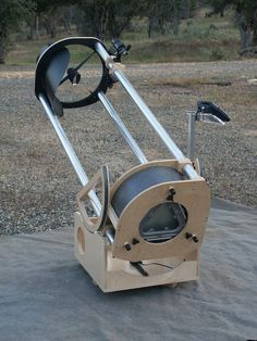 """16"""" F4.5 ultralight strut telescscope built by Michelle Stone. Total weight is 74 pounds. The little computing device on the right side locates objects in the sky. - #Dobsonian #Telescopes"""