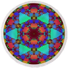Abstract fractal floral decor Round Beach Towel by Lenka Rottova. The beach towel is in diameter and made from polyester fabric. Beach Towel Bag, Beach Mat, Fractal Art, Fractals, Summer Essentials, Towels, Mandala, Outdoor Blanket, Plush