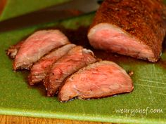 This spice-rubbed tri tip roast is baked in the oven and makes it easy to serve perfectly-cooked steak to a crowd!