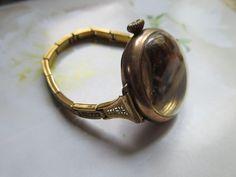 Vintage Circa 1920 Ladies Wrist Watch Case Bracelet in Gold Fill