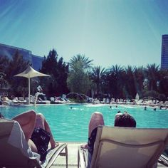 By the pool at Aria Hotel in Las Vegas