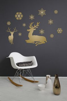 black with gold and white and silver snowflakes could be done on poster or foam core