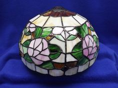 Beautiful Vintage Stained Glass Lamp Shade