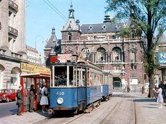 De oude tram op het Leidseplein (1964)