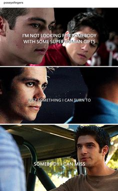 I just had a crazy Lydia moment.. I was singing these very lines when I came across this post!! Teen Wolf - sciles